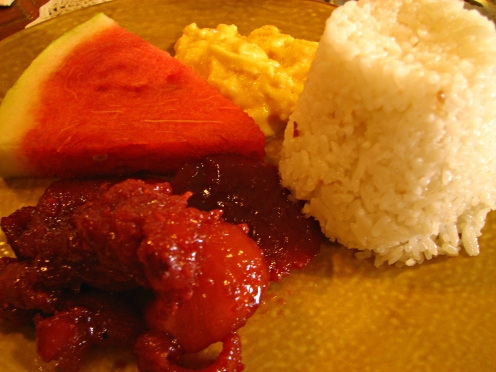 A typical Filipino breakfast